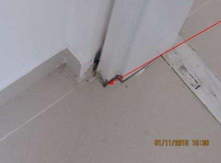 בדיקת מבנים - ליקווי ריצוף בדירת קבלן